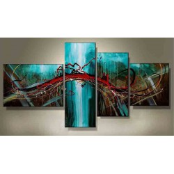 Peinture Abstraite Courant Bleu 150*90 cm