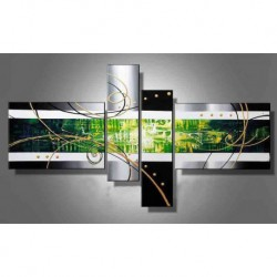 Peinture Abstraite Verte 180*90 cm