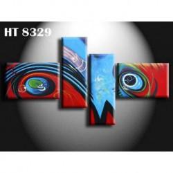 Peinture Abstraite Colorée 180*90 cm