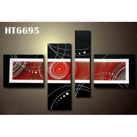 Peinture Abstraite Rouge & Noire 150*90 cm