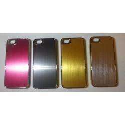 Coque I-Phone 5 Alu Chromé Or/Argent