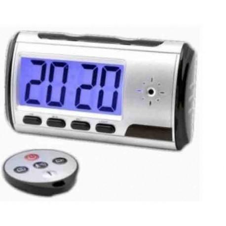 Réveil Espion Caméra Détecteur de Mouvements USB