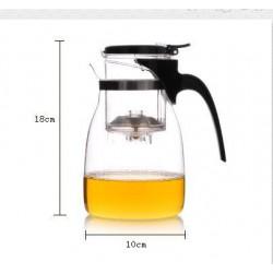 Théière transparente avec 4 tasses