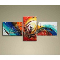 Peinture Abstraite Colorée 60*160cm