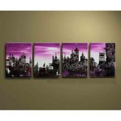 Peinture Purple City 80*160CM
